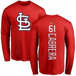 Men's Genesis Cabrera St. Louis Cardinals Backer Long Sleeve T-Shirt - Red