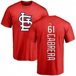 Men's Genesis Cabrera St. Louis Cardinals Backer T-Shirt - Red