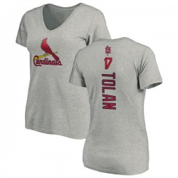 Women's Bobby Tolan St. Louis Cardinals Backer Slim Fit T-Shirt - Ash