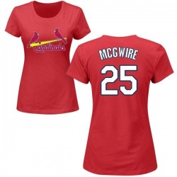 Women's Mark McGwire St. Louis Cardinals Roster Name & Number T-Shirt - Red