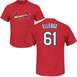 Youth Seth Elledge St. Louis Cardinals Roster Name & Number T-Shirt - Red